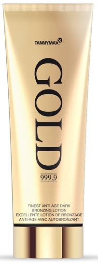 Tannymaxx Gold 999,9 Finest Anti Age Dark Bronzing Lotion opalovací krém do solária 200ml